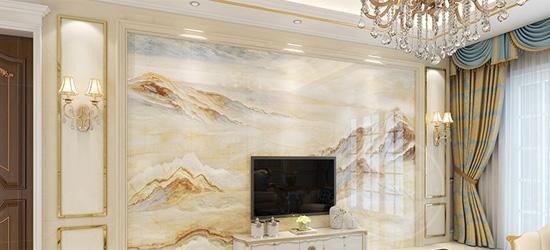 电视背景墙怎么安装?护墙板和微晶石!